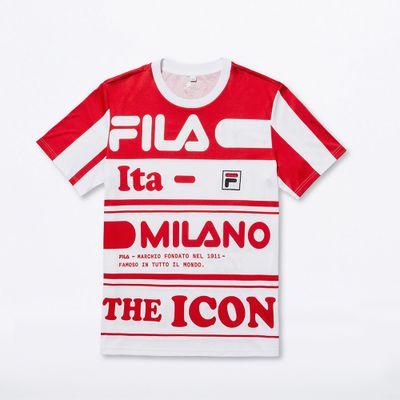 Camiseta Mfw19 Estampado Vermelho Masculina