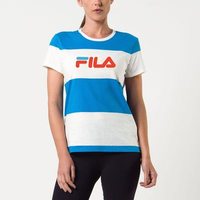 Camiseta Maxi Listras Feminina