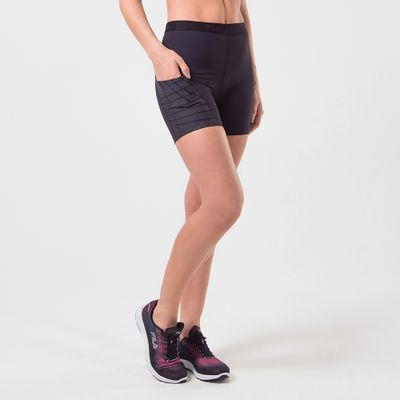 Shorts Compress Fit Stripes Feminino
