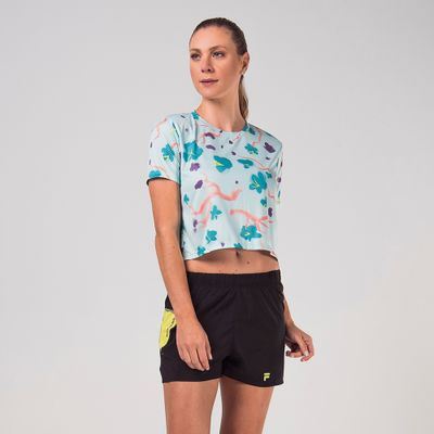 Camiseta Cropped Flower Feminina