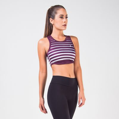 Top Cropped Double Degrade Feminino