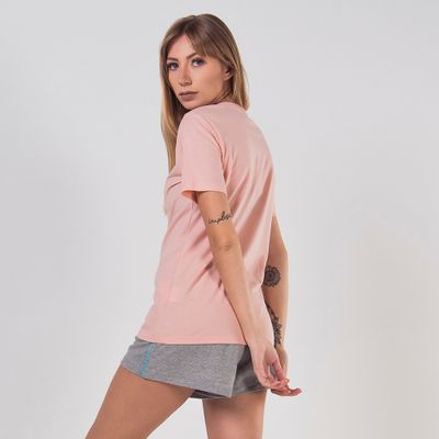 Camiseta Basic Letter Feminina