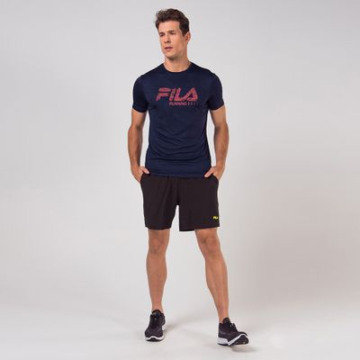 Camiseta Run Bars Melange Masculina