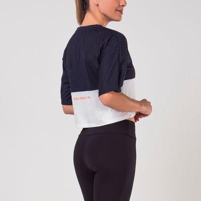 Blusa Cropped Maxi Texture Feminina