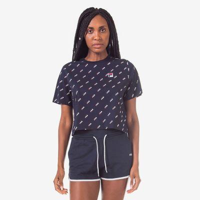 Camiseta Cropped Easy Print Feminina